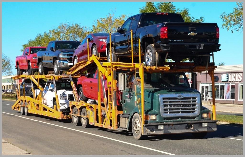 open car trailer