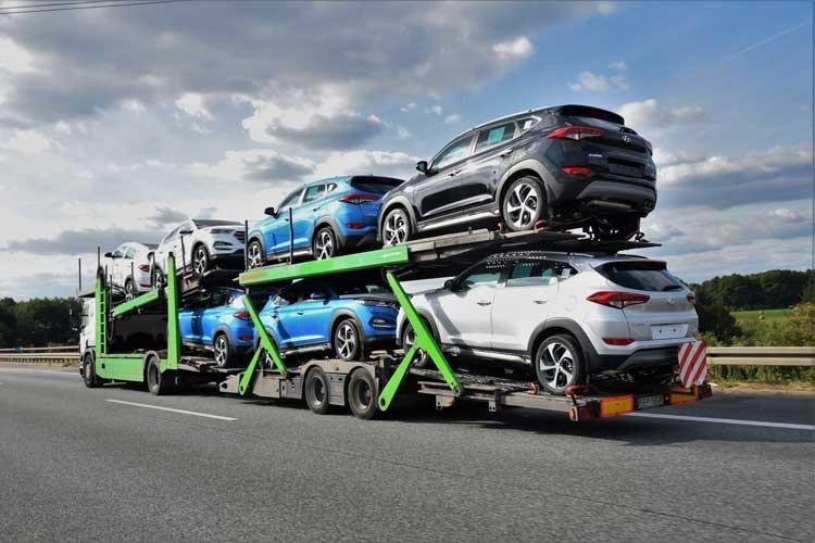Open Car Hauler SUV Shipment Day