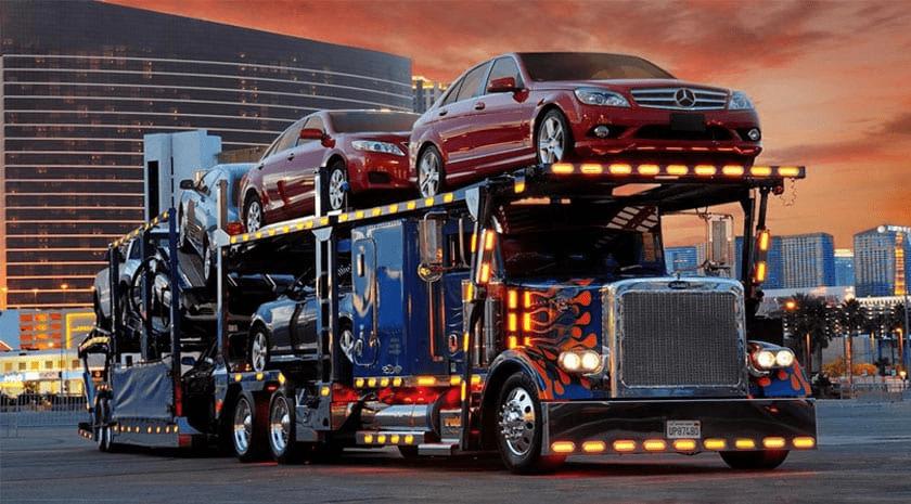 Open Car Hauler Sunset Vehicles