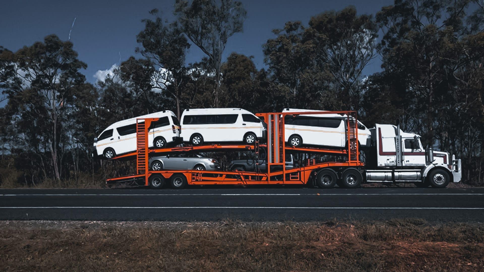 car shipping open trailer